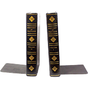 "Vintage ""History of Nations"" Book Bookends"