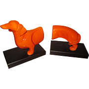 Dachshund Doggy Bookends, dog, doxie, bookends, mcm style, modern look