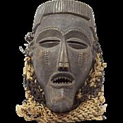 Vintage Wooden African Chokwe Mask