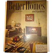 Vintage Better Homes & Gardens Magazine November 1948