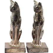 Vintage Art Deco style Cat Bookends