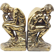 "Vintage Art Deco ""The Thinker"" Bookends c. 1928"