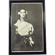Signed autographed Photograph of Famous Soprano Opera Singer Amelita Galli-Curci c. 1914
