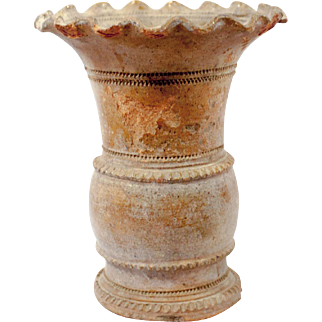 11th Century Thai Vessel With Scalloped Edge