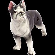 Vintage Nippon Yoko Boeki Co. Japanese Porcelain Boston Terrier Dog Statue Figurine