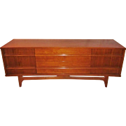 Mid Century Modern MCM  Young Furniture Kagan style Low Credenza Sideboard TV Stand Storage cabinet Buffet  Walnut Cabinet