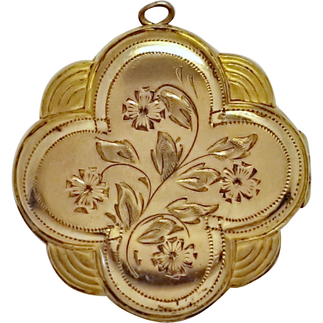 Gold plated 4 leaf clover locket with round photo pockets for Best place to sell gold jewelry in chicago