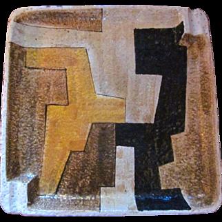 Vintage Mid Century Modern Raymor Abstract Geometric Pottery Ash Tray