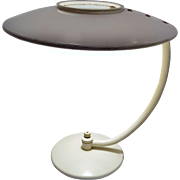 1950's UFO Dazor Lamp With Fiberglass Shade MCM Mid Century Modern Desk Lamp Table Lamp Reading Lamp