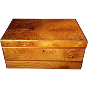 Agresti Briarwood Jewelry Box With One Drawer and Key. New With Original Key In Box and Watch Insert