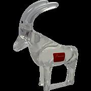 Signed Antelope Gazelle Baccarat Glass Animal Sculpture Noah's Ark