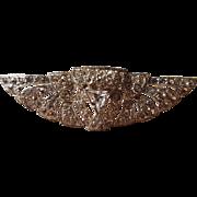 Art Deco Egyptian Revival Scarab Wing Rhinestone Triangle Cut Brooch