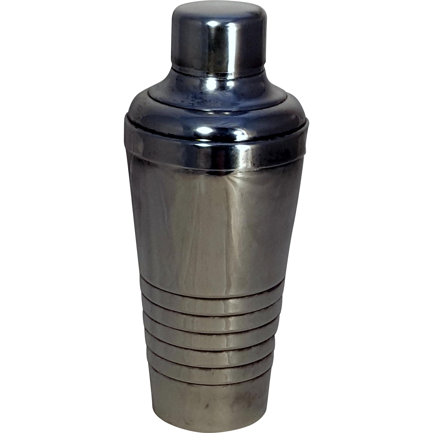 French Art Deco Gelb Silverplate Cocktail Shaker
