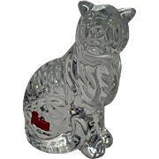 Baccarat Art Glass Zodiac Tiger