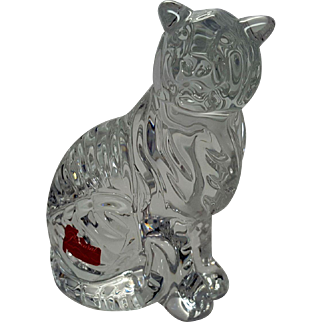 Baccarat Art Glass Zodiac Tiger