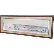 Joe Jones Original Silkscreen Beach Scene I  41/110 (WPA)