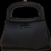 Bienen Davis Black Silk dressy Handbag