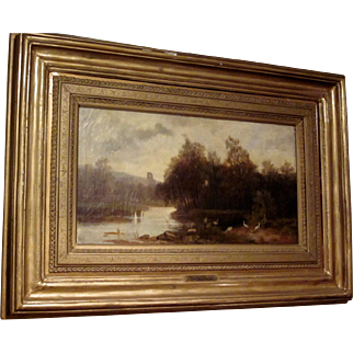 19th Century Oil on Canvas by Charles Duval