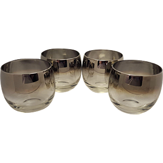 Set of 4 Dorothy Thorpe Roly Poly Silver Flash Fade Mad Men MCM Glasses