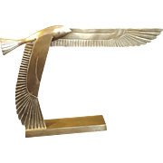 Art Deco Egyptian Revival Revival Eagle Falcon Brass Sculpture