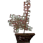 Marcello Fantoni Modern Brutalist Metal Art Sculpture Sailboat