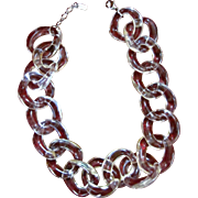 Fornash Large Lucite Linked Necklace
