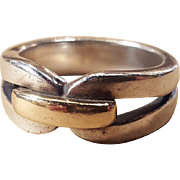 James Avery Enduring Bond Ring Sterling Silver With 14k Gold Knot Commitment Band Promise Ring
