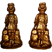 Jennings Brothers Geisha Asian Women Bookends