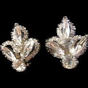 Vintage Juliana Rhinestone Clip on Earrings - Bridal