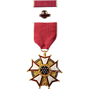 Legion of Merit Legionnaire Military Medal From WWII Unnamed With Lapel And Bar Pin