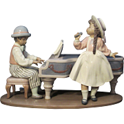 "Lladro Porcelain figural group titled ""Jazz Duo"" by Antonio Ramos"