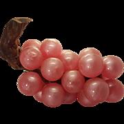 Vintage Mid Century Bubblegum Pink Lucite Grapes
