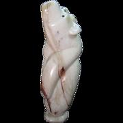 Carved Marble Zuni Fetish Bear, Signed