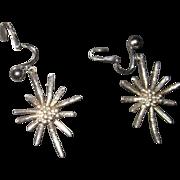 Mid Century 925 sterling silver earrings