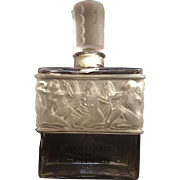 Giant 12 Inch MOLINARD Retail Counter Display Perfume Bottle Decanter Designed By Lalique Art Deco Egyptian Revival Nude Women
