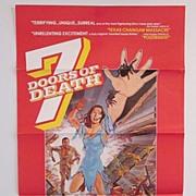 "Original Movie Poster  ""7 DOORS OF DEATH"""
