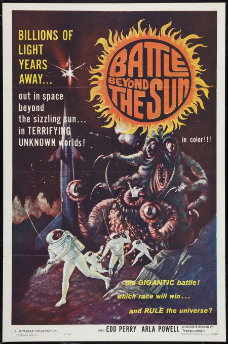 "Original Movie Poster ""Battle Beyond the Sun"" 1962 Sci-Fi Cult Classic"