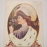 1907 Millinery and Dry Good Shop Advertising Postcard