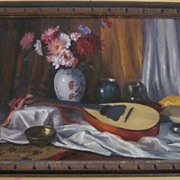 Ferenc Vardeak Oil Painting on Canvas  Still Life