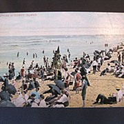 Vintage Postcard of Coney Island Bathers