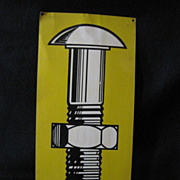 Vintage Tin Advertising Sign for Fluke Fastening Systems