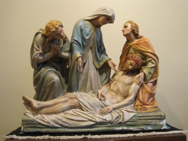 "Hold for B.S. Stations of the Cross Statue #13 ""Jesus is Taken Down from the Cross"""
