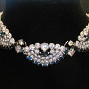 Vintage Juliana Rhinestone Demi-Parure Necklace Earring Set