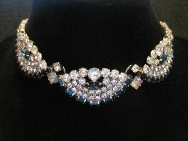 Vintage Juliana Rhinestone Demi-Parure Necklace Earring Set