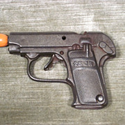 "Vintage Heavy Cast Metal Toy Cap Gun ""25 JR"""