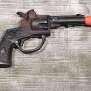 """Vintage 1923  Cast Iron Toy Cap Gun  - Cowboy Style  -  """"DOC"""""""
