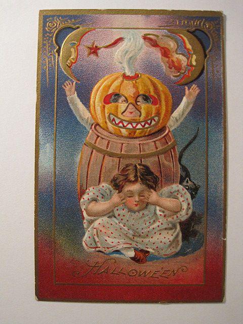 A. Jaegar Halloween Postcard Series # 5 ,  No Writing on Back