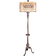 Rembrandt Lamp Company (Attrib) Floorlamp with Mesh Painted Shade