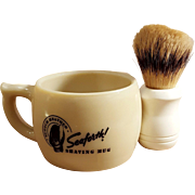 Vintage 1940's Men's Seaforth! Scotch Heather Shaving Mug & Brush