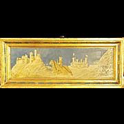 Simone Martini Knights of Siena Florentine Copy In Goldtone Frame
